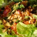 Salade de riz croustillant