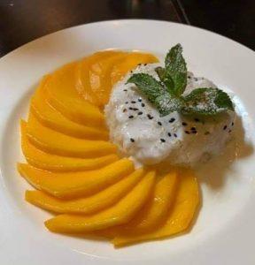 Riz coco et mangue fraiche