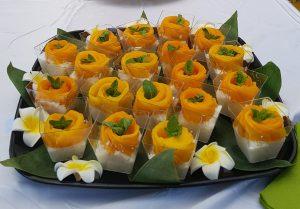 Riz au lait de coco et mangue fraiche